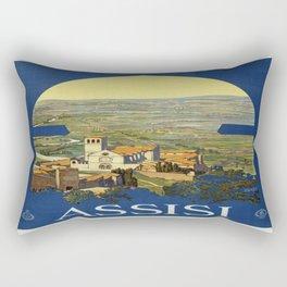 Vintage poster - Assisi Rectangular Pillow