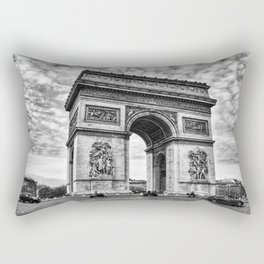 Arc De Triomphe - Paris (BW Version) Rectangular Pillow