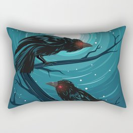 Hugin and Munin Rectangular Pillow