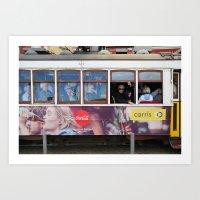 Tram in Lisbon Art Print