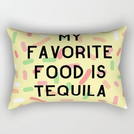 My Favorite Food is Tequila Rectangular Pillow