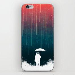 Meteoric rainfall iPhone Skin