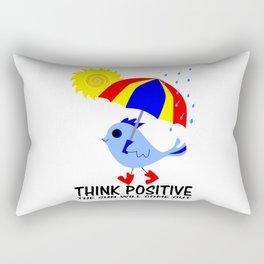 Blue Bird Think Positive Image Rectangular Pillow