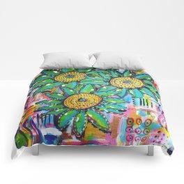 Floral Pop Comforters