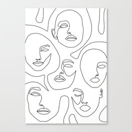 Her and Her Canvas Print