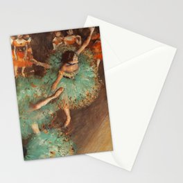 The Green Dancer 1879 By Edgar Degas | Reproduction | Famous French Painter Stationery Cards