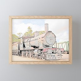 Rusting Steam Train Framed Mini Art Print