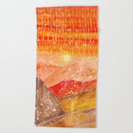 Lines in the mountains XXIV Beach Towel