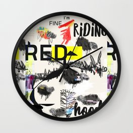 RRH graphic design Wall Clock