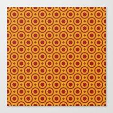 Circles and Dots, Mustard and Red Canvas Print