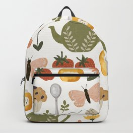 Afternoon Tea Time in the Garden Backpack