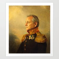 ghostbusters Art Prints featuring Bill Murray - replaceface by replaceface