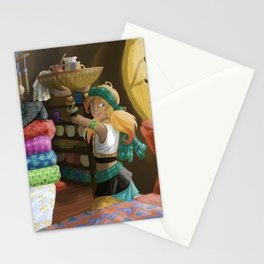 Paintings on textile Stationery Cards