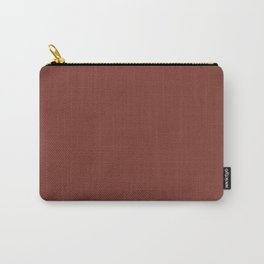 Solid Color Pantone Burnt Henna 19-1540 Dark Red Carry-All Pouch