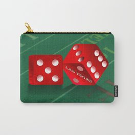 Craps Table & Red Las Vegas Dice Carry-All Pouch