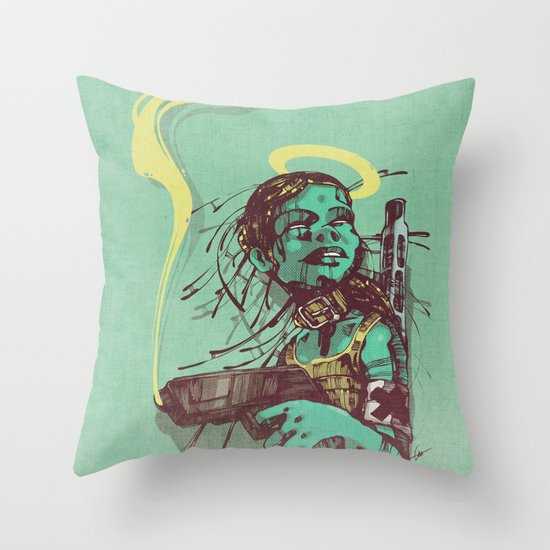 Guard II. Throw Pillow