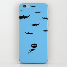 WTF? Tiburones! iPhone & iPod Skin