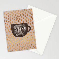 Words cannot espresso how much you bean to me Stationery Cards