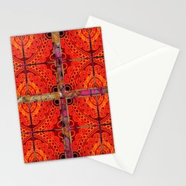 no. 196 orange pattern Stationery Cards