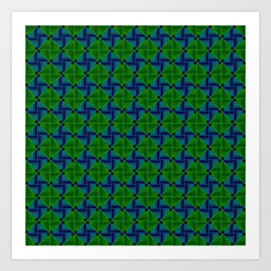 Green Parquet Art Print