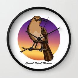 CURVE-BILLED THRASHER Wall Clock