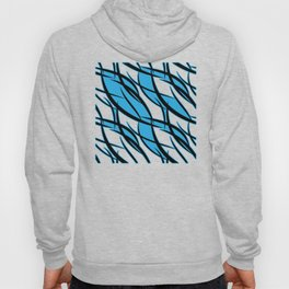Sea intertwining black lines. Hoody