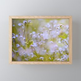 Forget-me-nots On a Windy Day #decor #society6 Framed Mini Art Print