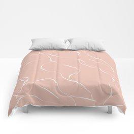 Line pink Comforters