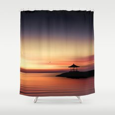 the silent sea Shower Curtain