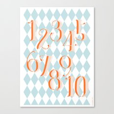 Counting Poster Canvas Print