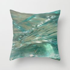 Glass Wave Throw Pillow
