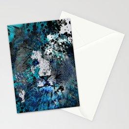 LION PRIDE ABSTRACT INK SPLASH PORTRAIT Stationery Cards
