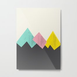 Pastel Mountains III Metal Print