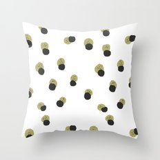 blots abstract minimal pattern Throw Pillow