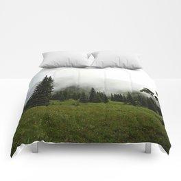 Misty Colorado Pines Comforters