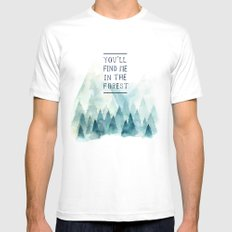 You´ll find me in the forest Mens Fitted Tee White MEDIUM