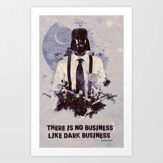 Dark Business. Art Print