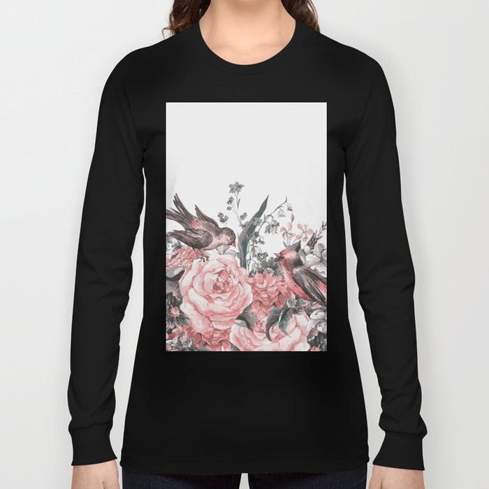 birds and flowers 2 Long Sleeve T-shirt