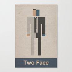 Retro Two Face Canvas Print