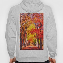 Falling leaves natural background Hoody