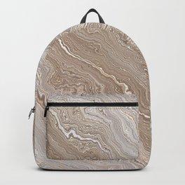 Gold Agate Geode slice Backpack