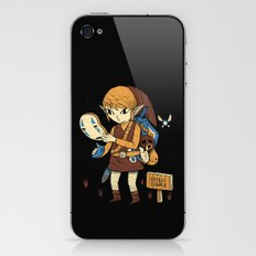 you got the no face mask! iPhone & iPod Skin