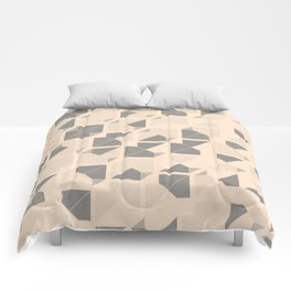 Geometric seamless pattern design with a grunge texture Comforters