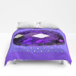 LILAC PURPLE AMETHYST FACETED GEM BIRTHSTONE ART Comforters