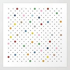 Pin Points Polka Dot Art Print