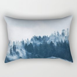 Misty Forest Rectangular Pillow