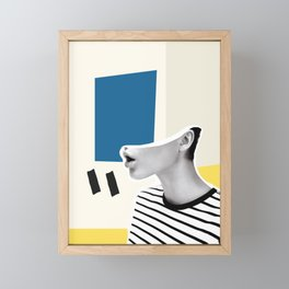 minimal collage Framed Mini Art Print