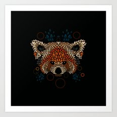 Red Panda Face Art Print