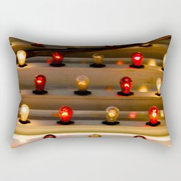 Abstract Red and Yellow Bright Twinkle Lights Photograph Rectangular Pillow