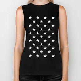 Stars (White/Pink) Biker Tank